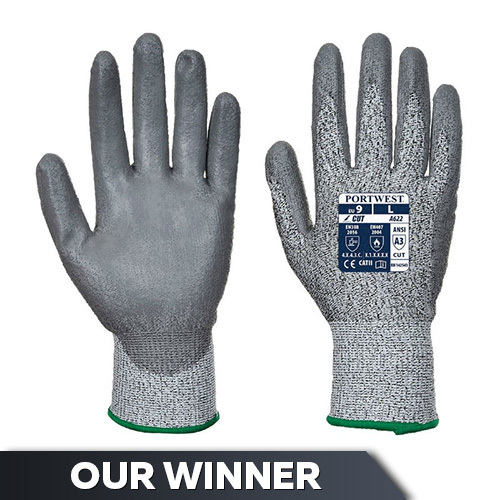 Portwest Cut-Resistant PU-Coated Handling Gloves A622G7