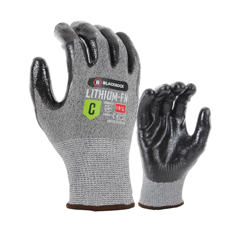 Blackrock 54307 Lithium Nitrile Palm-Coated Cut Level C Gloves