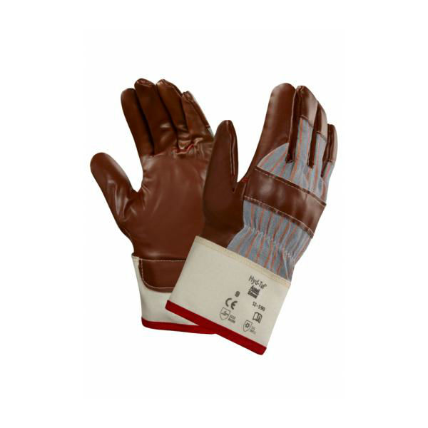 Ansell 52-590 Winter Hyd-Tuf Jersey-Lined Nitrile Gloves