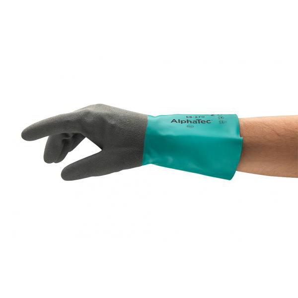 Ansell AlphaTec 58-270 Chemical-Resistant Gauntlet Gloves