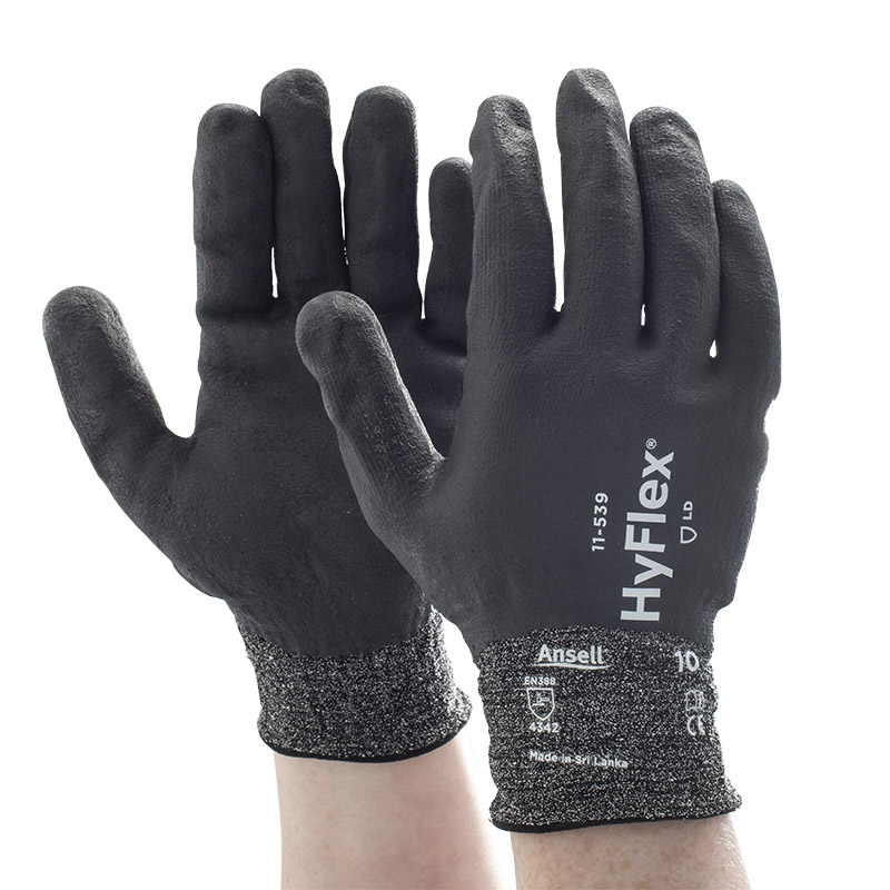 Ansell HyFlex 11-539 Fully Dipped Grip Work Gloves