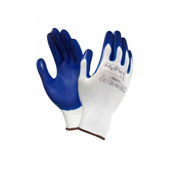 Ansell HyFlex 11-900 Palm-Coated Nitrile Gloves