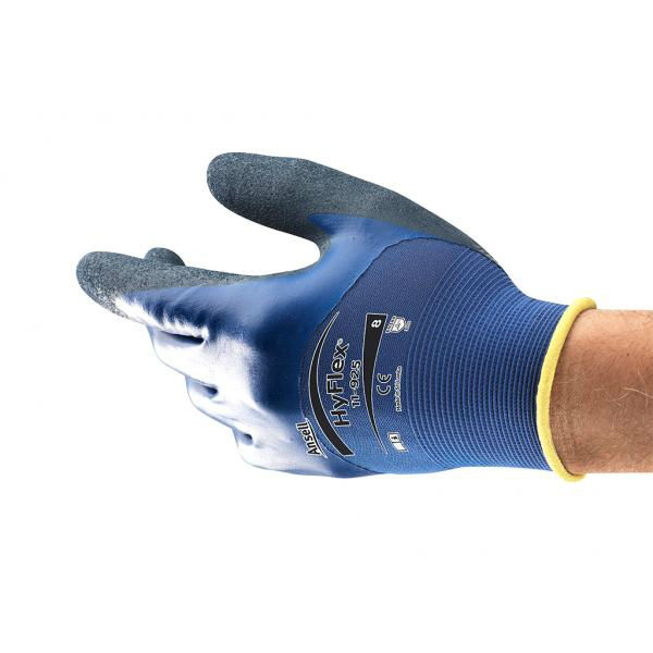 Ansell HyFlex 11-925 Double Nitrile-Coated Oil Resistant Gloves