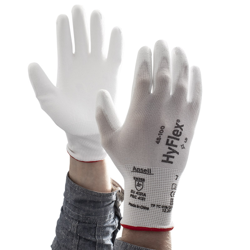 Ansell HyFlex 48-100 Palm-Coated Light Application Work Gloves