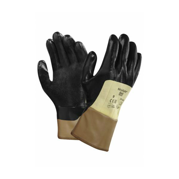Ansell NitraSafe 28-329 Palm-Coated Kevlar Work Gloves