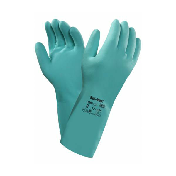 Ansell Solvex 37-675 Nitrile Chemical-Resistant Gauntlets