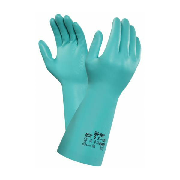 Ansell Solvex 37-695 Chemical-Resistant Nitrile Gauntlets