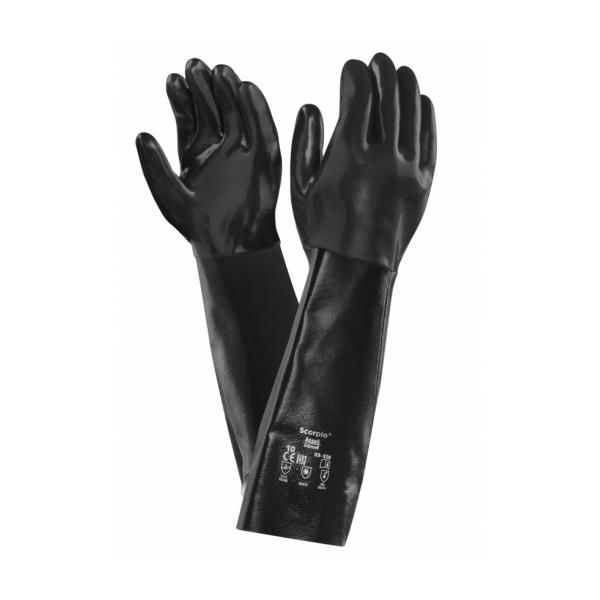Ansell Scorpio 09-928 Neoprene Anatomical Chemical-Resistant Gauntlets