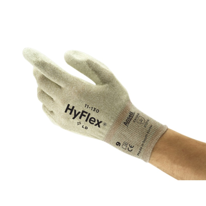 Ansell HyFlex 11-130 PU Coated Anti-Static Gloves