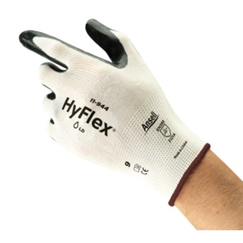 Ansell HyFlex 11-944 Nitrile Palm Nylon Gloves