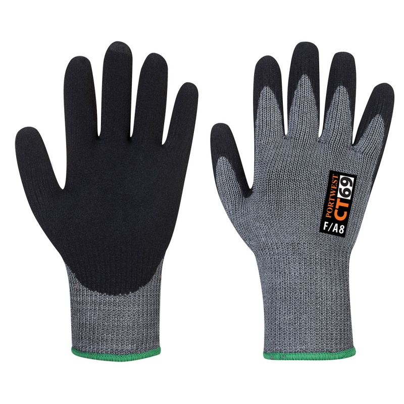 Portwest CT AHR+ Nitrile Foam Cut Level F Gloves CT69