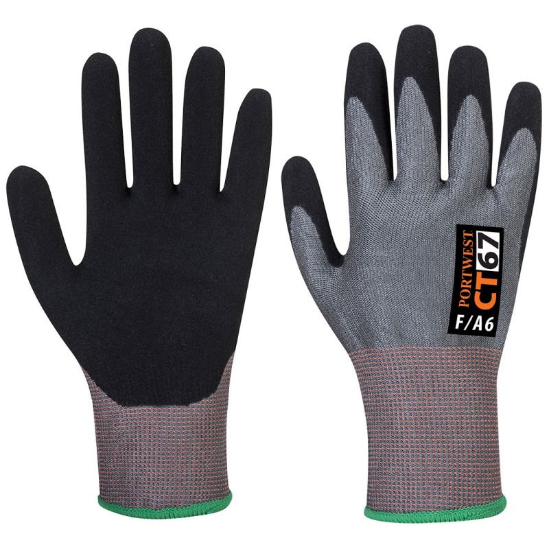 Portwest CT AHR Nitrile Foam Coated Gloves CT67