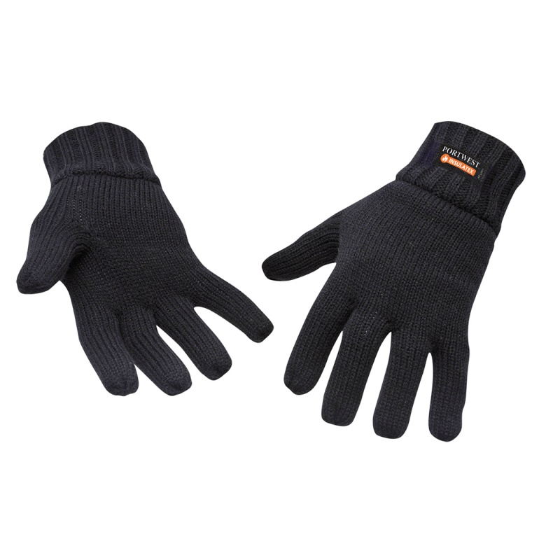 Portwest GL13 Black Insulatex Lined Gloves