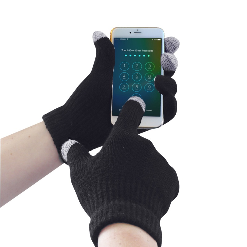 Portwest GL16 Black Touchscreen Knit Gloves