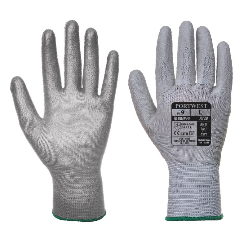Portwest Grey PU Palm Gloves A120