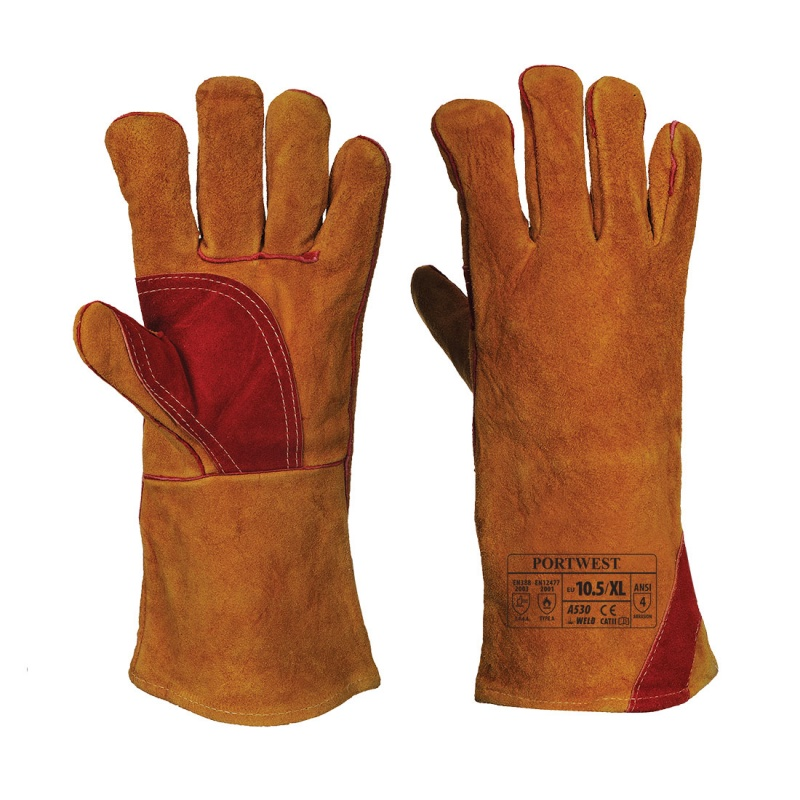 Portwest Reinforced Welding Leather Gauntlets A530