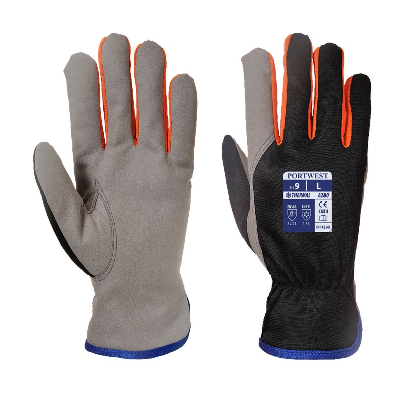 Portwest Thermal Gloves with Fleece Lining A280