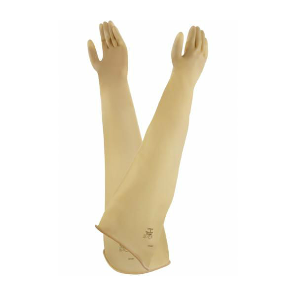 Ansell AlphaTec 55-100 Ambidextrous Natural Rubber Latex Gauntlets