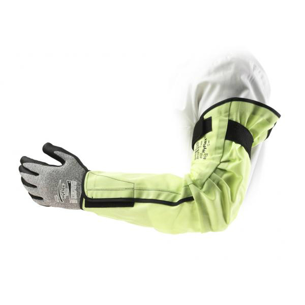 Ansell HyFlex 11-202 Hi-Vis Cut-Resistant Sleeve with Velcro Fixing System