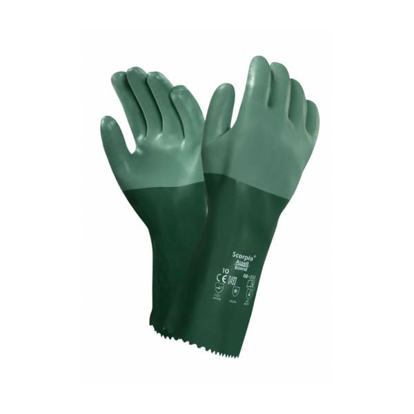 Ansell Scorpio 08-354 Neoprene Chemical-Resistant Gauntlets