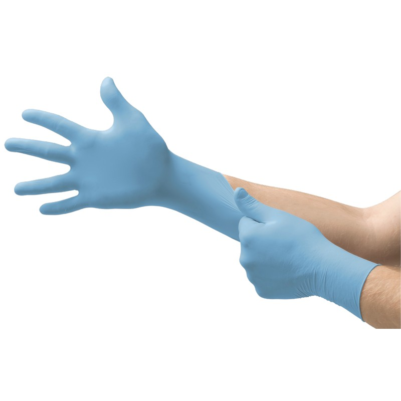 Ansell VersaTouch 92-481 Blue Disposable Nitrile Food-Handling Gloves
