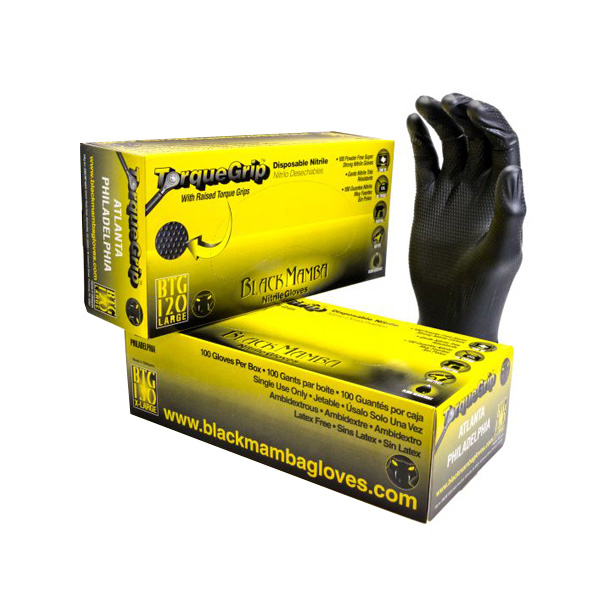 Black Mamba Disposable Torque-Grip Nitrile Gloves BX-BMGT