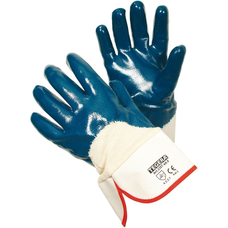Ejendals Tegera 2207 Nitrile Dipped Oil Resistant Work Gloves