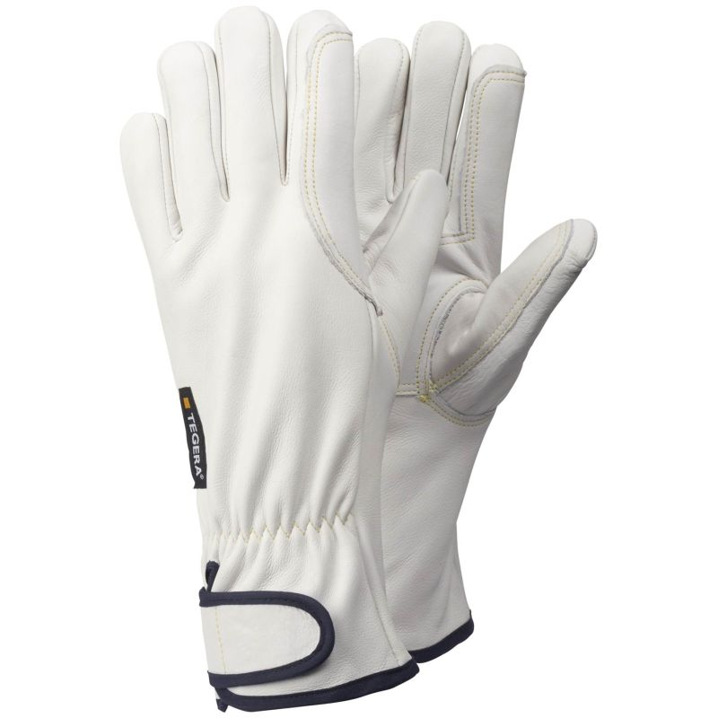 Ejendals Tegera 88800 White Cowhide Heat Gloves