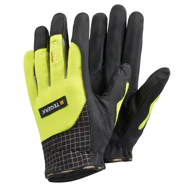 Ejendals Tegera 9123 Yellow and Black Grip Gloves