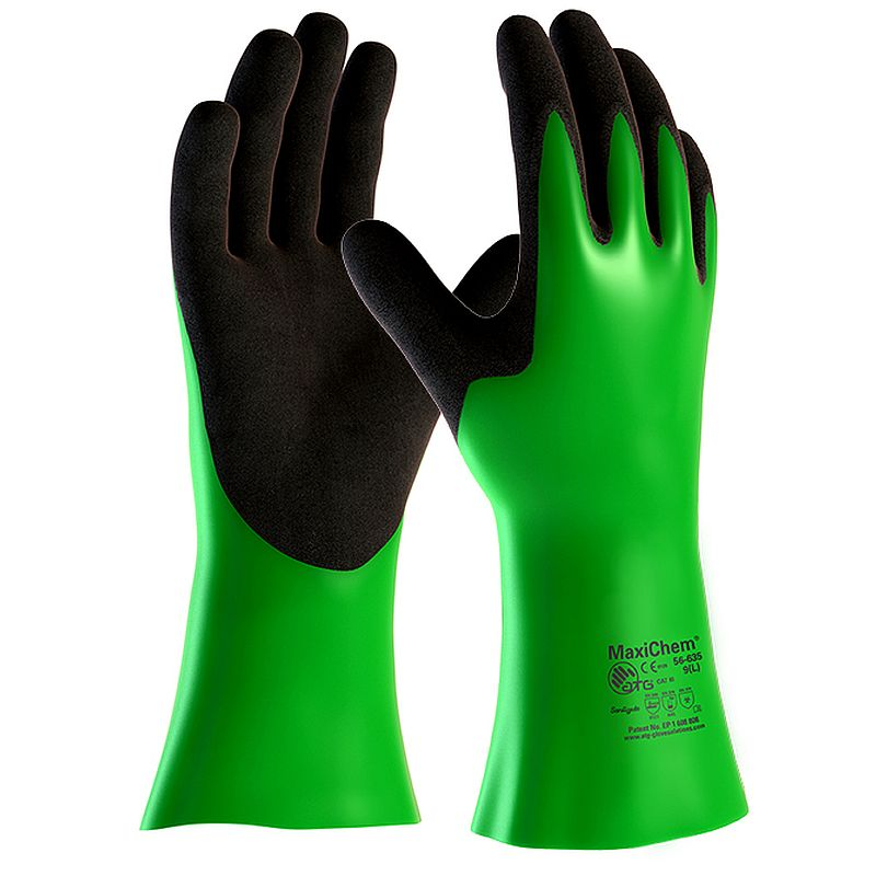 MaxiChem Chemical Resistant Gauntlet Gloves 56-635