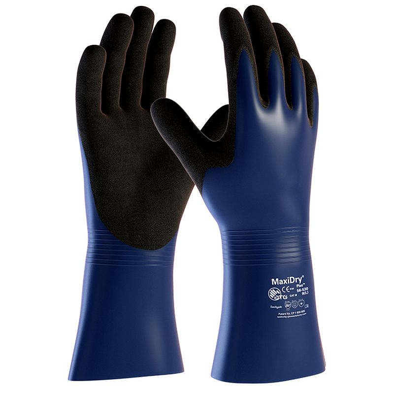 MaxiDry Plus Chemical Resistant Gauntlet Gloves 56-530