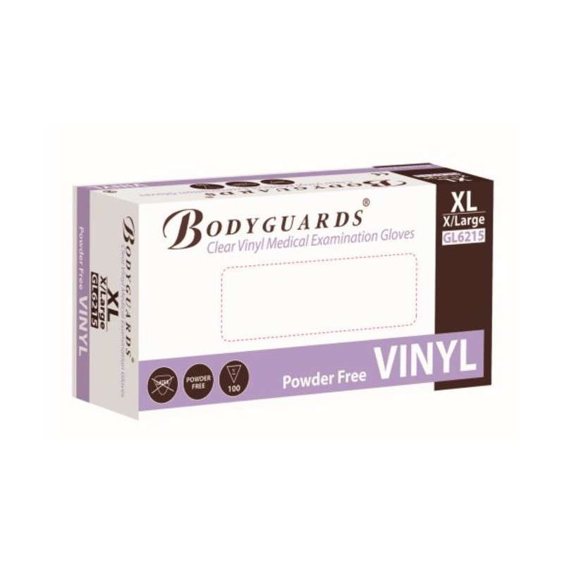 Polyco Bodyguards GL621 Clear Vinyl Powder-Free Disposable Gloves