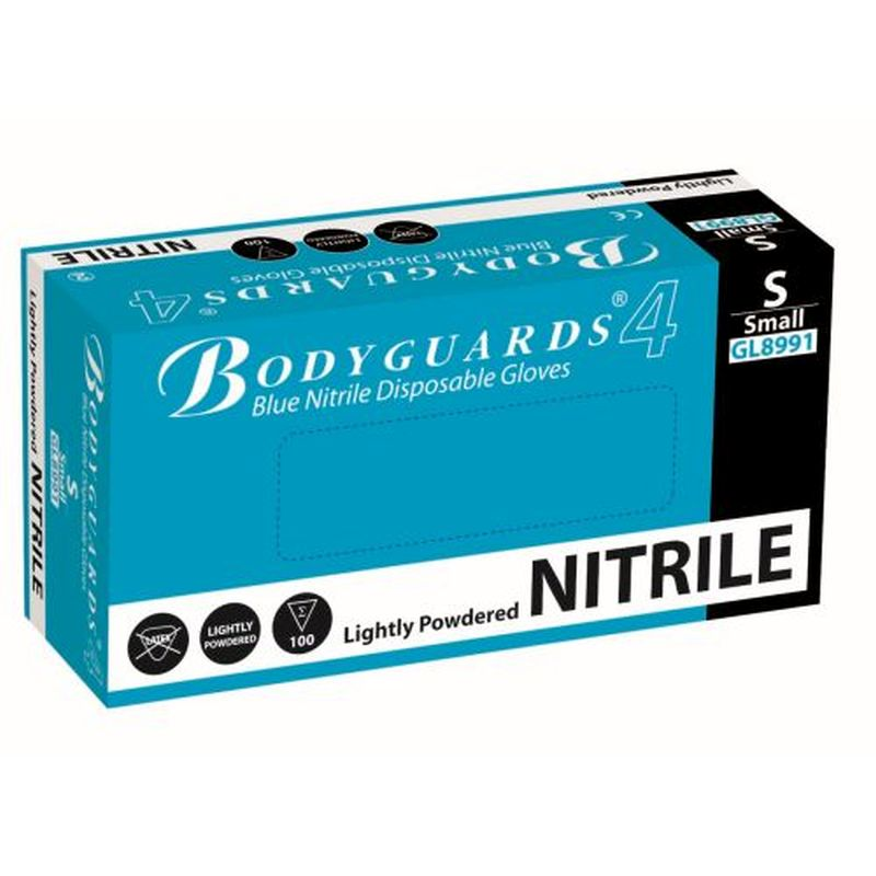 Polyco Bodyguards GL899 4 Blue Nitrile Powdered Disposable Gloves