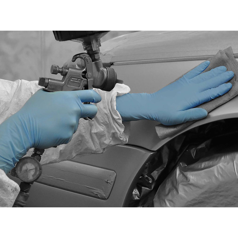 Polyco Bodyguards GL891 Blue Nitrile Disposable Gloves with Long Cuff