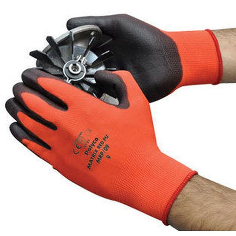 Polyco Matrix Red PU-Coated Work Gloves MRP
