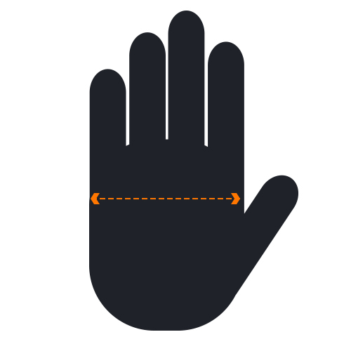 Hand Width Measurement Diagram