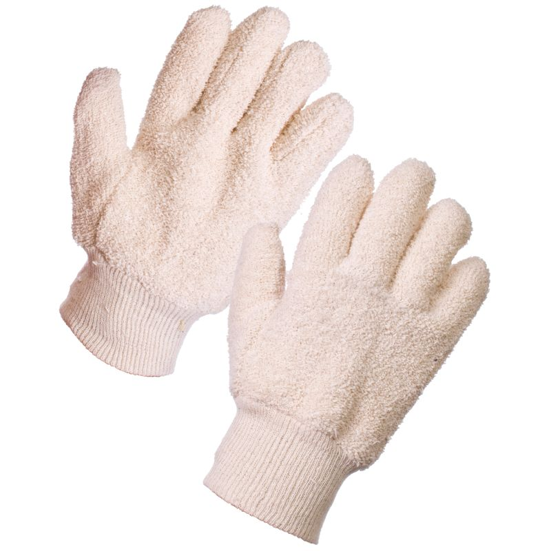 Supertouch 28163 Seamless Heat-Resistant Terry Cotton Gloves