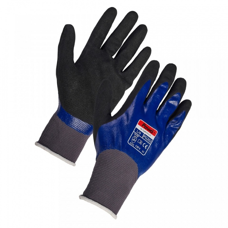 Pawa PG202 Dual Nitrile-Coated Oil Gloves