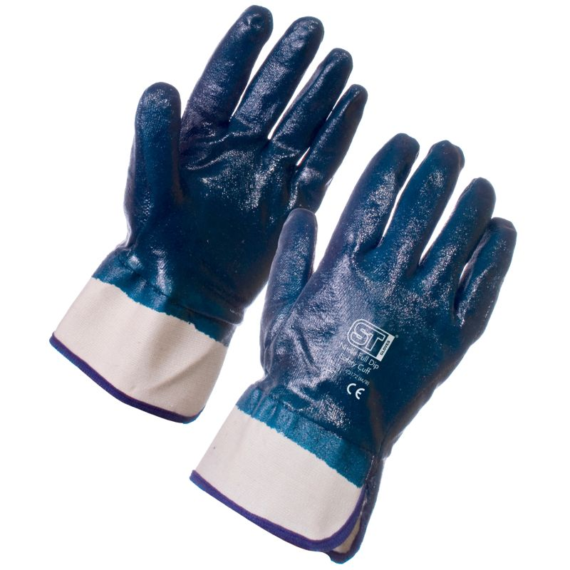 Supertouch Nitrile Heavyweight Full Dip Safety Cuff Gloves 2217