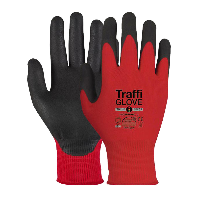 TraffiGlove TG1140 Morphic Cut Level 1 Safety Gloves